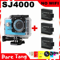 [SDV03F]  SJ4000 action camera video camera cam Action 30M Waterproof 720P  Helmet Sport Cameras Gopro Style+3 Extra batteries