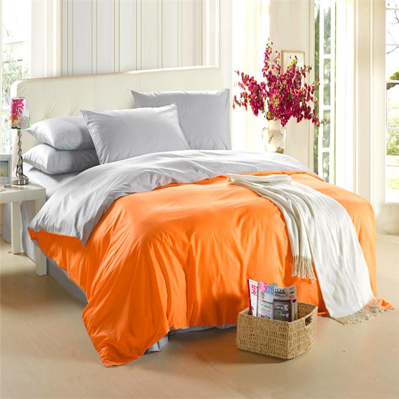 Buy orange silver grey bedding set king - Orange and grey comforter ...