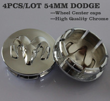 Free Shipping 4PCS/LOT 54MM Chrome ABS 3D RAM Emblem Wheel Center Caps Wheel Cover Hub Caps For Dodge(China (Mainland))