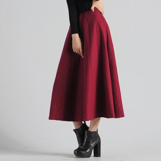 luxury vintage high waist skirt tutu pleated