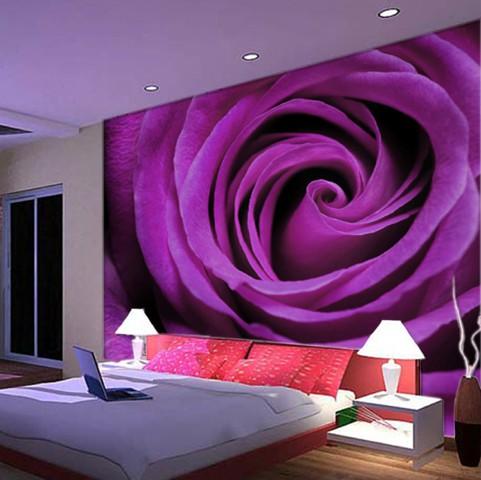 popular fabric backed vinyl wallcoverings buy cheap fabric wall mural photo wallpaper xxl flowers purple nature