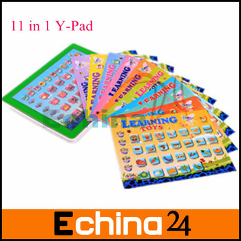 2015 New 11-in-1English Language Y-pad Ypad Tablet Table Computer Touch Screen Kids Learning Machine Staff Toys Free Shipping