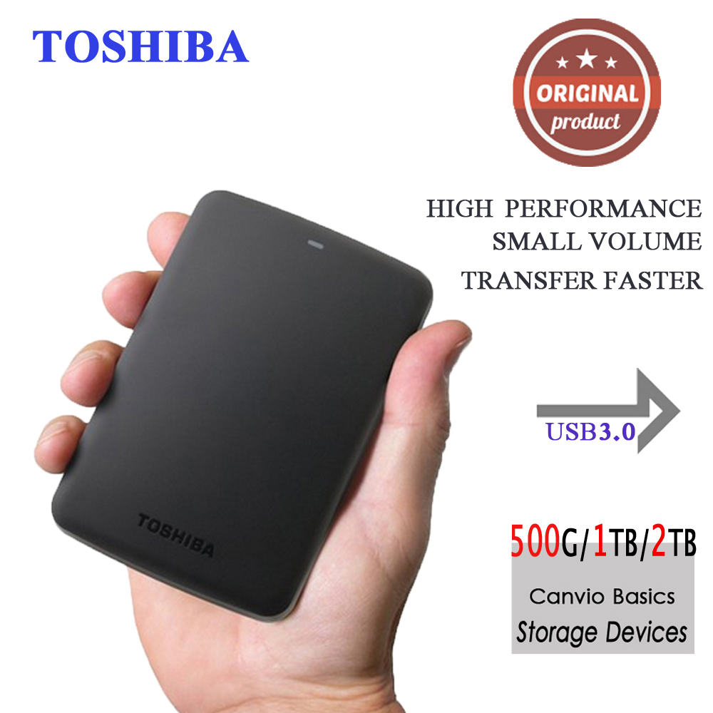 "Toshiba Canvio Basics hdd 2.5"" usb 3.0 external Portable hard drive 2tb 1tb hard drive disk storage device for Desktop Laptop(China (Mainland))"