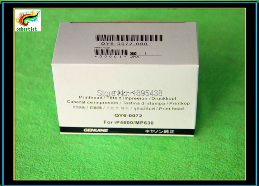 Запчасти для принтера For Canon ! 100% qy6/0072 Canon Pixma IP4680 IP4760 MP630 QY6-0072 print head qy6 0044 original refurbished printhead for canon 320i 350i i250 i255 i320 i350 i355 ip1000 printer accessories