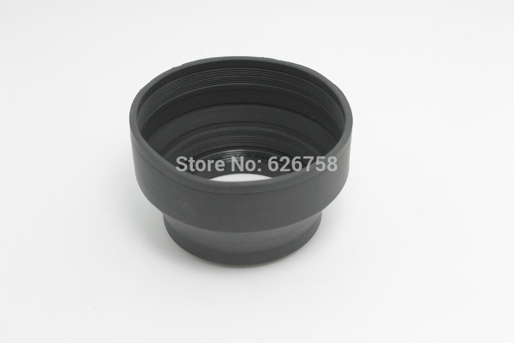 lower price 62mm Camera Three Way 3 IN 1 Rubber Collapsible Lens Hood for Digital Film Camera(China (Mainland))