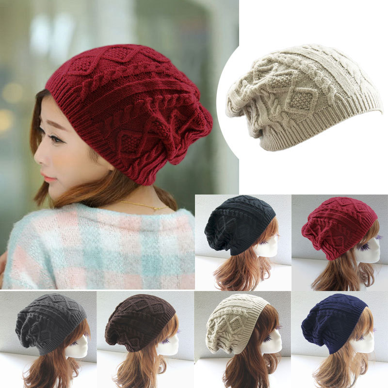 Women New Design Caps Twist Pattern Women Winter Hat Knitted Sweater Fashion beanie Hats For Women 6 colors gorros Y1 Q1(China (Mainland))