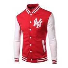 Men's casual cardigan Hoodies, Sweatshirts New spring autumn Teen college style Sports baseball uniform pollover(China (Mainland))