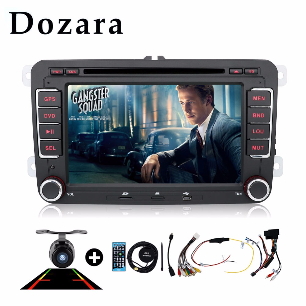 2 din car dvd gps In Dash vw polo car dvd GPS/Radio tuner/MP3/USB/SD/Bluetooth/Stereo/Video Free Map and Camera(China (Mainland))