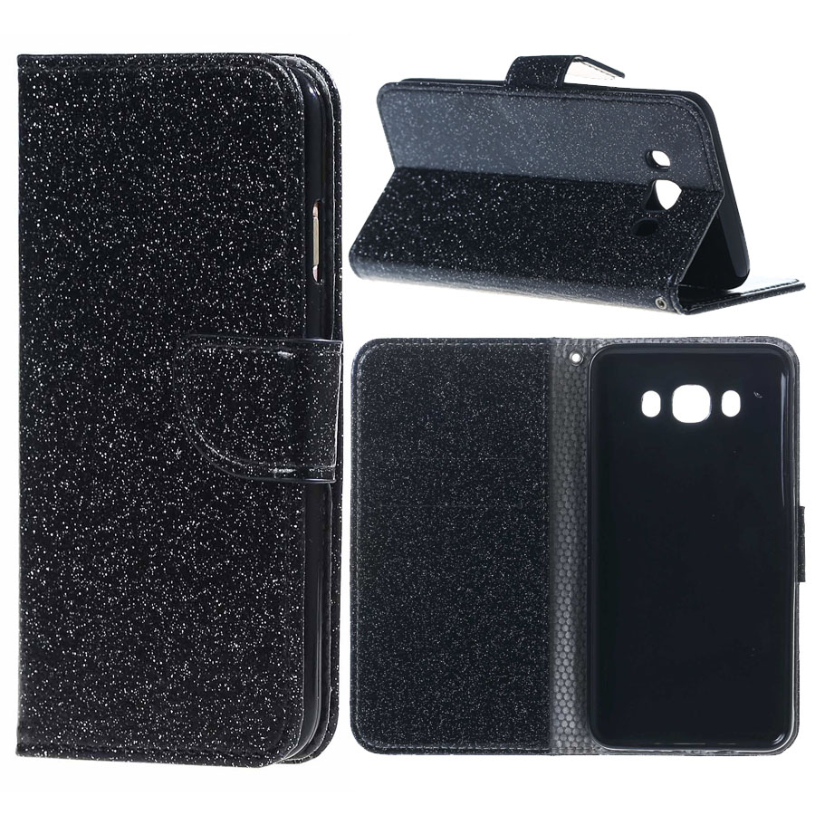 1pcs Galaxy J7 2016 J3 Prime 2 Card Slots Bling Glitter Powder Leather Case Stand Samsung Galaxy J5 A3 A5 A7 2017
