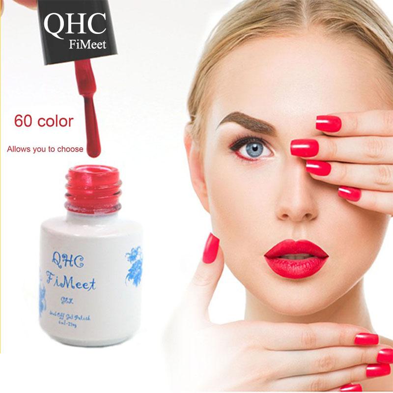 2016 Hot Sale QHC FiMeet Gel Nail Polish Long-Lasting Soak-off Nail Polish Gel Polish 6ml/Pcs 60 Colors Optional Free Shipping(China (Mainland))