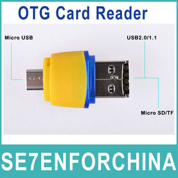 New 2014 USB Micro sd Otg Card Reader USB Flash Drive Support 2GB/4GB/8GB/16/32GB Card For Tablet PC and Smart (cell) Phone