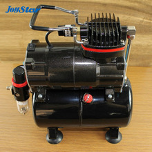 Brand New Professional High Performance Single-Piston Airbrush Air Compressor with Air Storage Tank Air Pressure Regulator(China (Mainland))