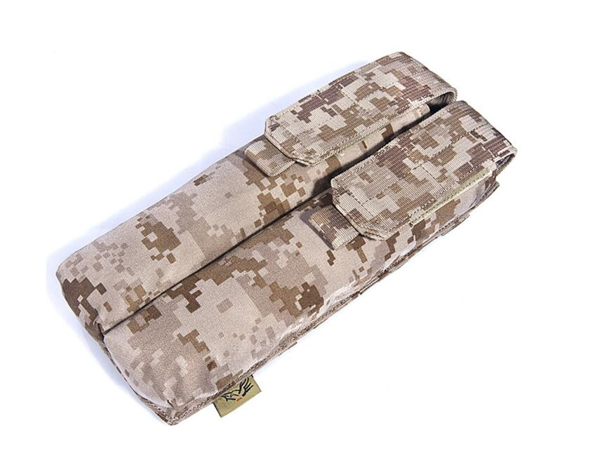 Free shipping In stock FLYYE genuine MOLLE waterproof nylon Double P90/UMP Magazine Pouch Military camping CORDURA FY-PH-M022(China (Mainland))