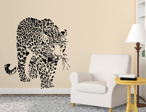 QT003 Animal Cheetahs, Leopards Wall Decal Sticker Living Room Stickers Vinyl Removable Black Color Wide 60cm ,High 60cm(China (Mainland))