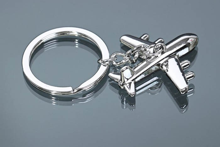 Hot sell Classic 3D Simulation Model airliner plane keychains Keychain Key Chain Ring Keyring KC12(China (Mainland))