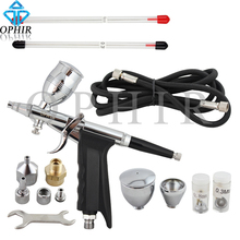 OPHIR Dual Action Spray Gun 0.3mm,0.5mm,0.8mm Nozzle Set Touch-Up Auto Paint Sprayer Paint Airbrush Gun Kit Power Tools_AC069(China (Mainland))