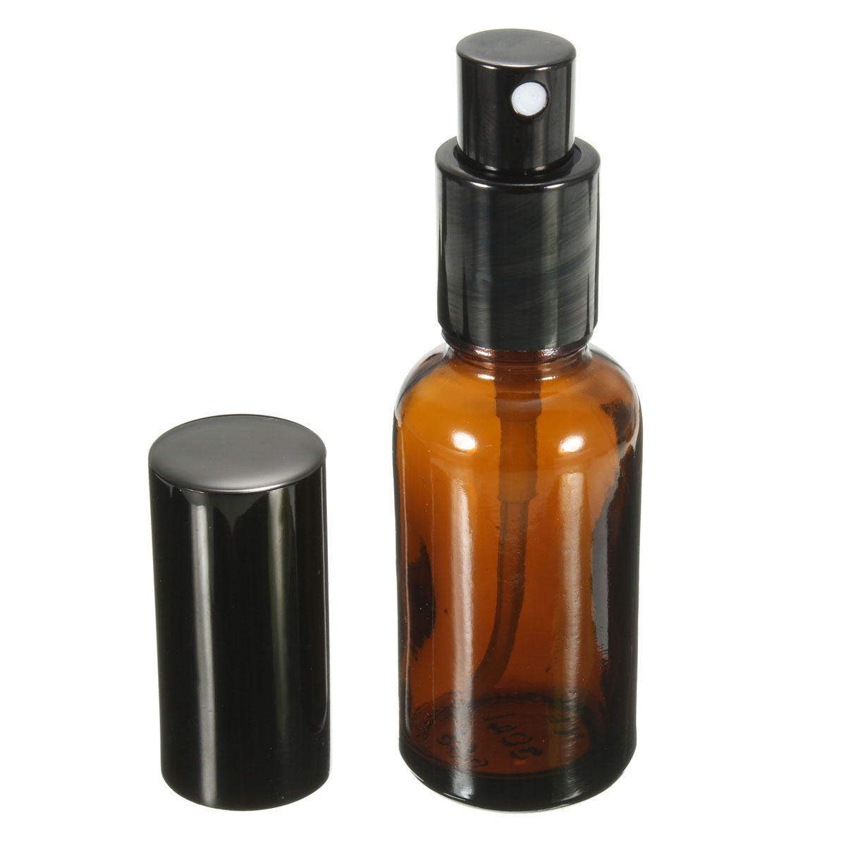 New 1PCS 30ML Amber Glass Atomizer Bottle Vial For Essential Oil Perfume Water Spray Bottles Dark Brown Cosmetic Containers(China (Mainland))