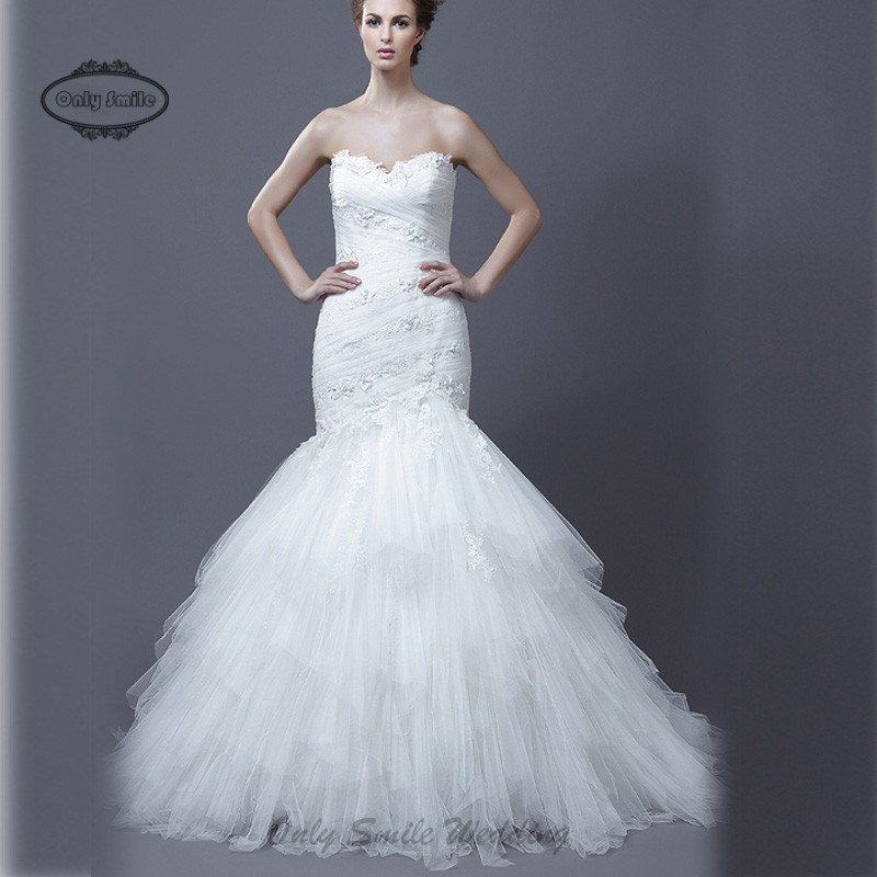 Zj2029 sweetheart beaded lace appliques puffy tulle skirt for Wedding dresses sale online