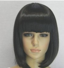 Short Black Cosplay Wig Anime Fashion Sexy Full Straight Synthetic Hair Blonde Bob Wigs With Bangs Female Women Peruca Pelucas(China (Mainland))