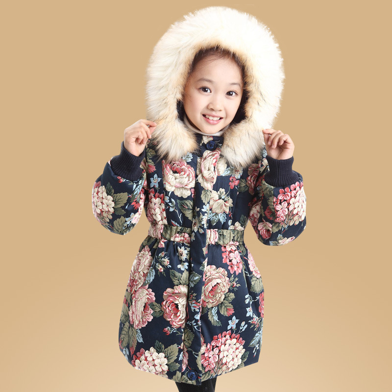 Childrens clothing vogue of new fund of 2015 autumn winters with thick cotton-padded clothes of the girls Children collars coat<br><br>Aliexpress