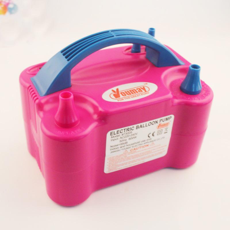 Купить Электрический шар насос, электрический насос воздушный шар оптовая Двойное Отверстие Высокого Напряжения ПЕРЕМЕННОГО ТОКА Надувные Воздуха Надувное Машина