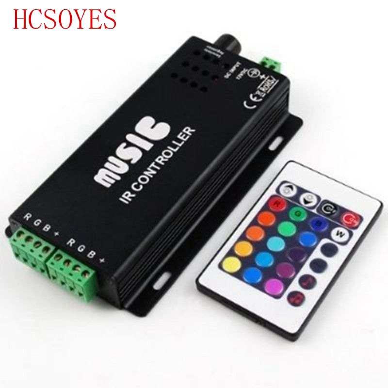 1 pcs music controller IR remote RGB controller DC12-24V 24 Keys for 5050 3528 led strip(China (Mainland))