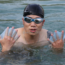 Swim Gear Fins Hand Webbed Flippers Silicone Training Gloves(China (Mainland))