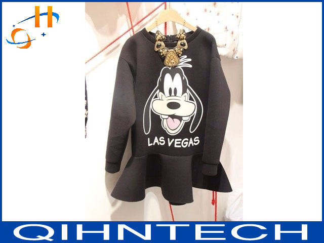 Korea bought winter leisure fleece dress with lovely goofy dog free shipping(China (Mainland))