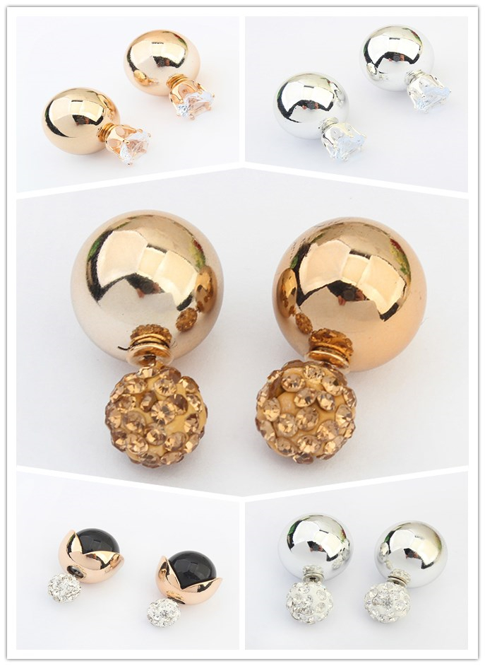 (Min order $5)Free shipping HOT Earrings for women elegant resin rhinestone fashion jewelry stud earrings accessories wholesale(China (Mainland))