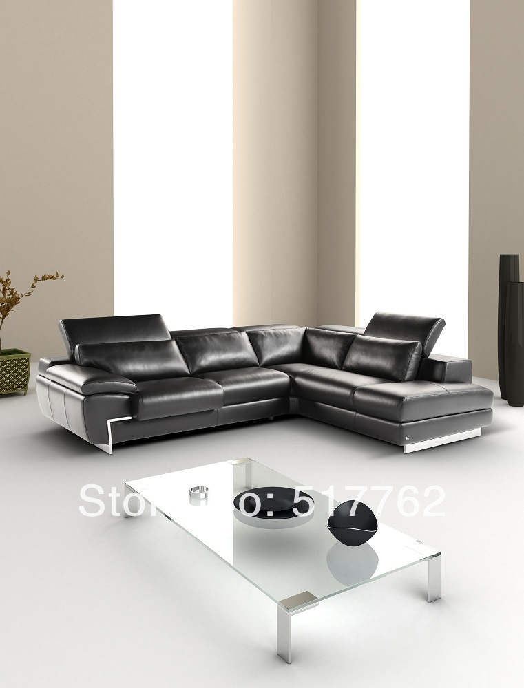 Italian leather sectional sofa super comfortable for Super comfortable sectional sofa