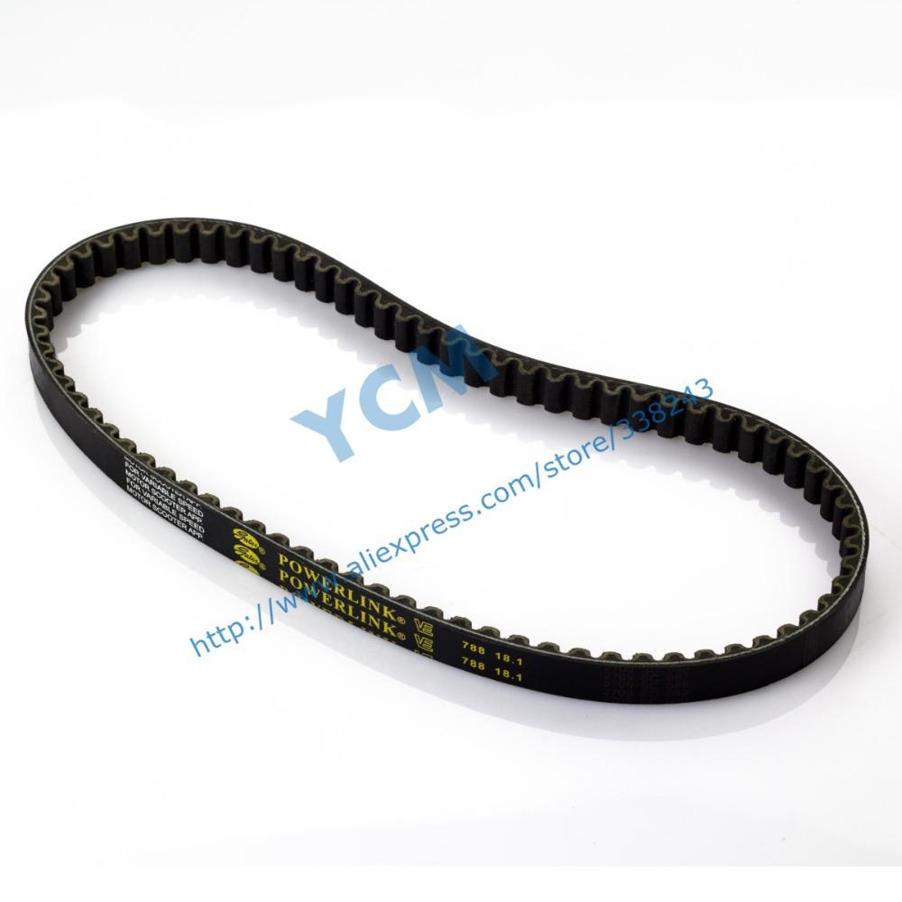 (Fast Shipping / 9 Pcs a lot)POWERLINK 788*18.1 Drive Belt,Scooter Engine Belt,Belt for Scooter,Gates CVT Belt, Free Shipping(China (Mainland))