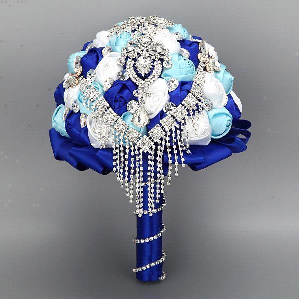 2015 romantico rosso viola blu rose wedding bouquet da sposa damigella d'onore del fiore wedding bouquet sposa azienda rose buque de noiva(China (Mainland))