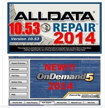 or any computers 2014alldata +2014mitchell +auto--data V3.40 with 1TB hard disk drive DHL EMS free(China (Mainland))