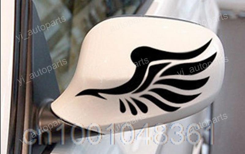 "1 pair 2Pcs Bird Wing RearView Mirror Motor Decal Car Sticker Vinyl 6""X2"" Graphic vinyl 16cm X 5cm(China (Mainland))"