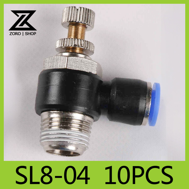 Tube 8mm Thread G1/2 Pneumatic throttle valve Fitting SL series pneumatically Quick Connector exhaust valve SL8-04(China (Mainland))
