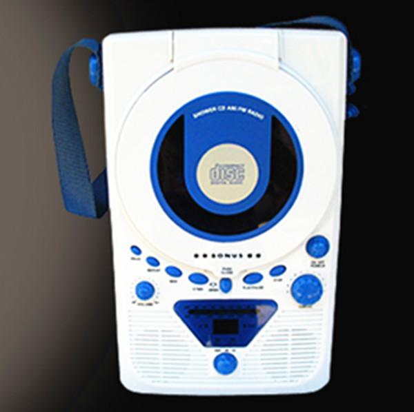 Portable Audio free shipping 2014 new hot European BONUS Wall cd player cd machine Kitchen Shower Radio prenatal machine<br><br>Aliexpress
