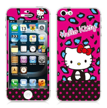 SF007 hello kitty Luxury Sticker for Iphone 5 5S SE Screen Protector iphone5 iphone5s iphoneSE smart phones cover film
