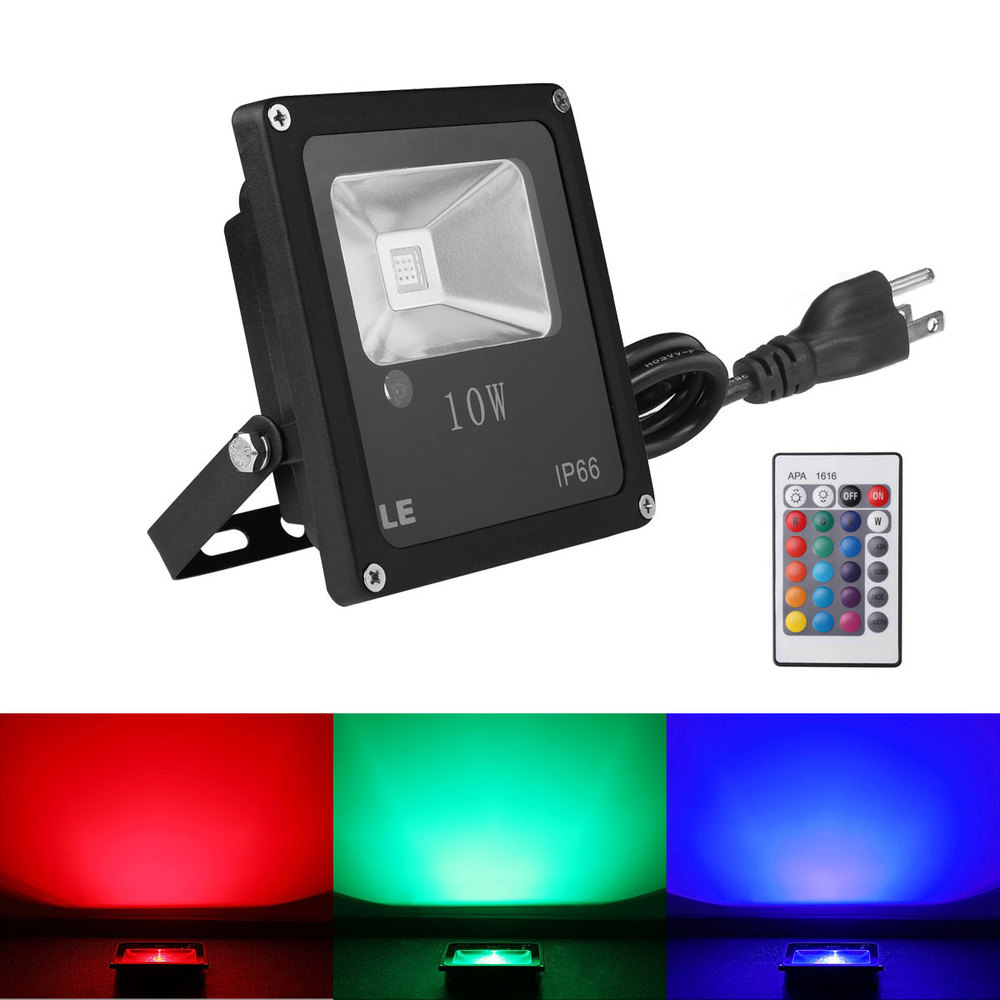 LE Remote Control 10W RGB LED Security Flood Lights, Color Changing, 16 Colors & 4 Modes, Waterproof, Wall Washer Light(China (Mainland))