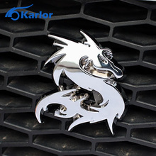 Buy Dragon Loong 100% 3D Metal Car Auto Grille Badge Logo Totem Grill Emblem Sticker Silver Gold Black DIY NEW 3 Color Car-Styling for $7.46 in AliExpress store