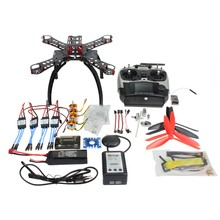RC Carbon Fiber Frame Multicopter Full Kit DIY GPS Drone FPV Radiolink AT9 Transmitter APM2.8 1400KV Motor 30A ESC F14891-C