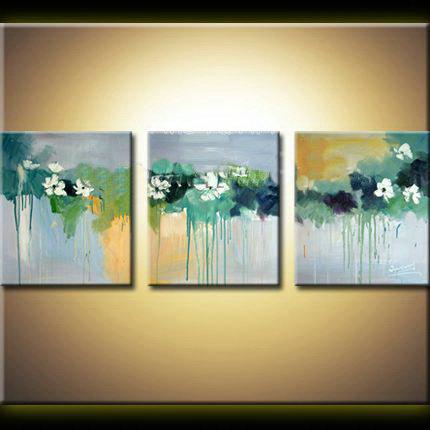 3 piece modern abstract canvas wall art handpained