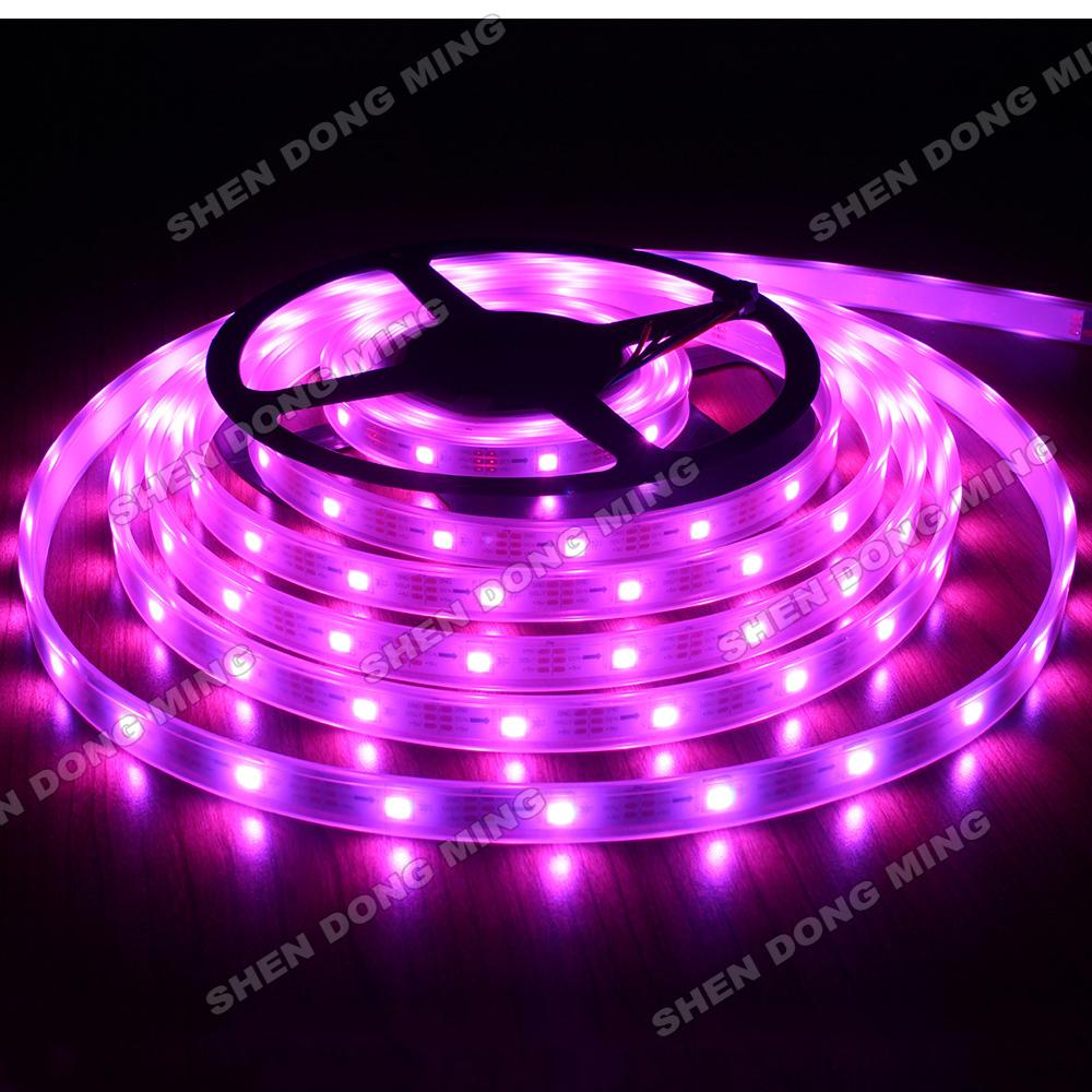 50m/lot dream color led ribbon Waterproof Ip67 Color Changing RGB 5050 digital LED Strip 32led/M 32ic/M Ws2801 Led Pixel Strip(China (Mainland))