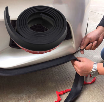 -50% OFF 2.5M Car Rubber Bumper Guard Protector Door Edge Strip Trim Styling Moulding Black Free Sjipping