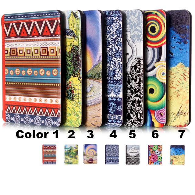 New Luxury Elegant Smart Ultra slim Pu leather colorful case cover for Amazon Kindle Paperwhite/paperwhite3(New model)<br><br>Aliexpress