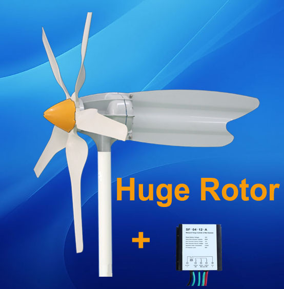 Max 400W 12v 24v Small Horizontal Wind Generator + 300W Controller(China (Mainland))