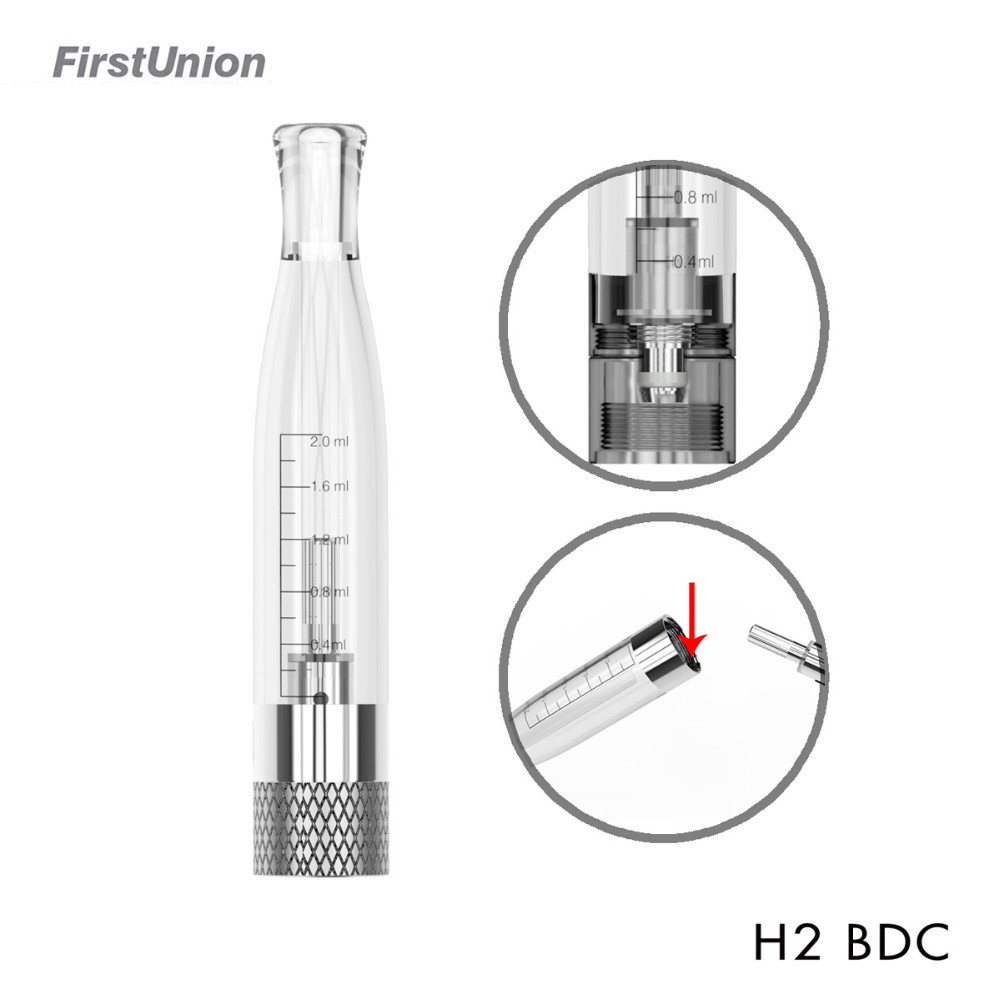 New clearomizer 2015 H2 BDC dual coil vaporizer pen fit for variable voltage e cigarette battery bottom refillable atomzier<br><br>Aliexpress