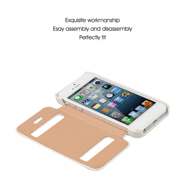 For iphone 5 5S ONLY for iOS7 Handcrafted Folio Flip Design & Top Quality Genuine Leather Cover Case For Mobile Phone iPhone5 5g