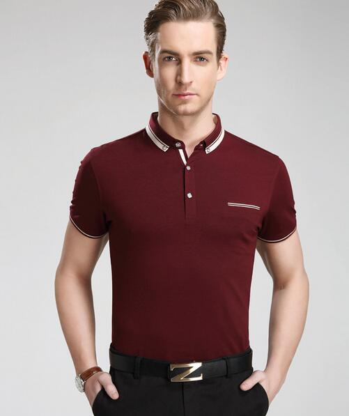 2016 Fashion Brand New T Shirt Men Slim Fitness Turn-down Collor T-shirt Short Sleeve Casual Cotton Brand Clothing Tops M-XXXLОдежда и ак�е��уары<br><br><br>Aliexpress