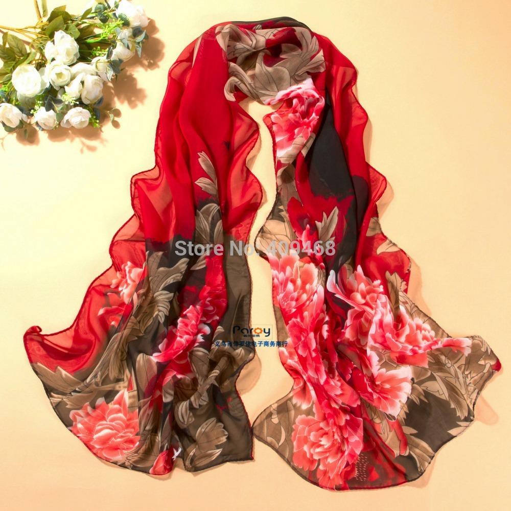 2014 new scarf summer pashmina women's scarf long shawl printed cape silk chiffon tippet muffler echarpes Scarves PG-009(China (Mainland))