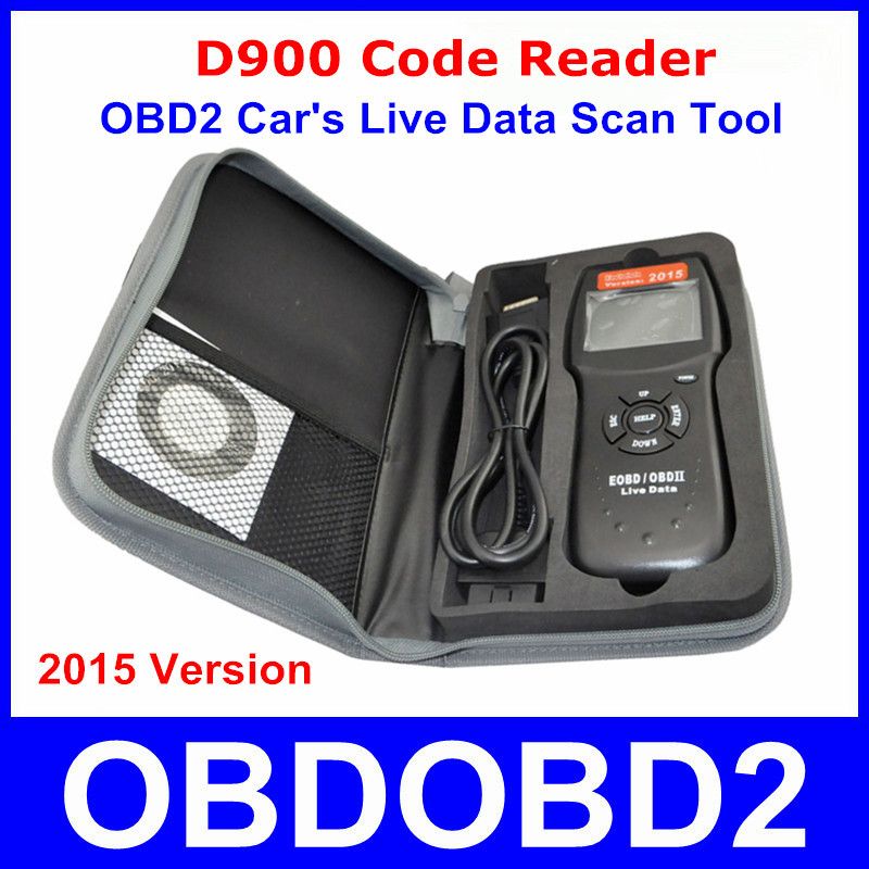 Universal D900 EOBD OBD2 Scanner Car's Engine D900 Code Reader Diagnostic Tool For Multi Brand Cars 2015 Verison In Stock(China (Mainland))